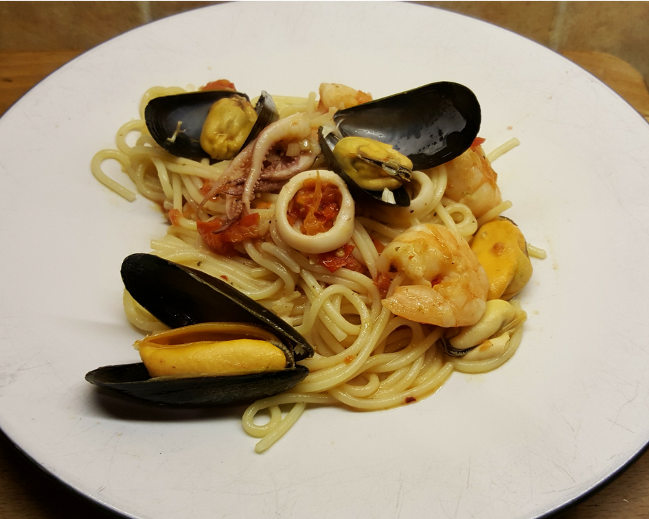 Faster Pasta: Seafood