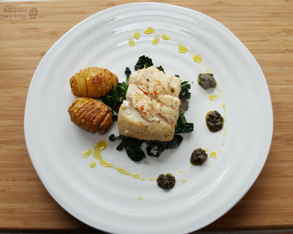 Hake parcel with Tapenade